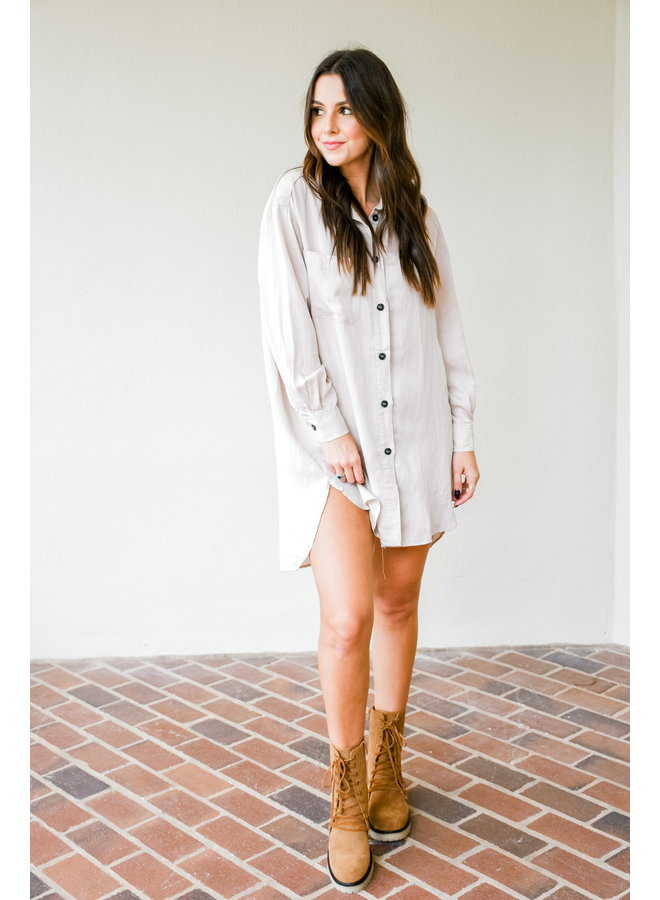 Here For The Hunt Button Up Dress