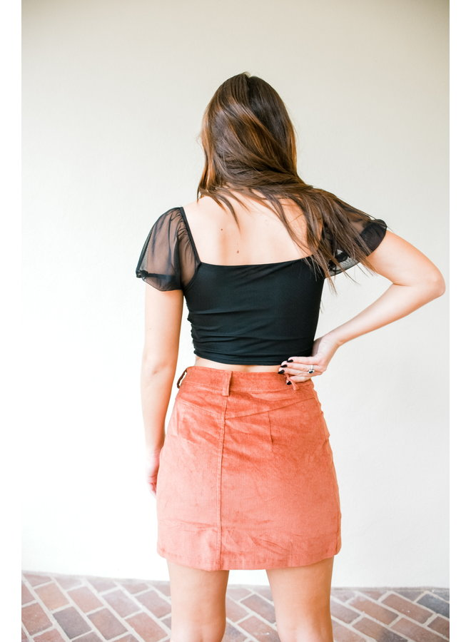 Sincerely Autumn Corduroy Skirt