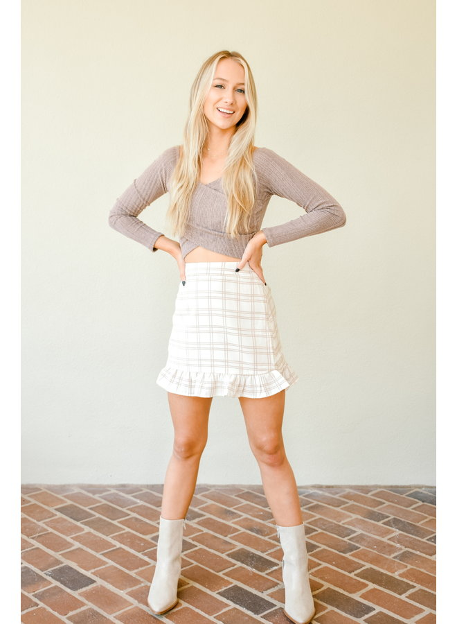She Could Never Plaid Skirt