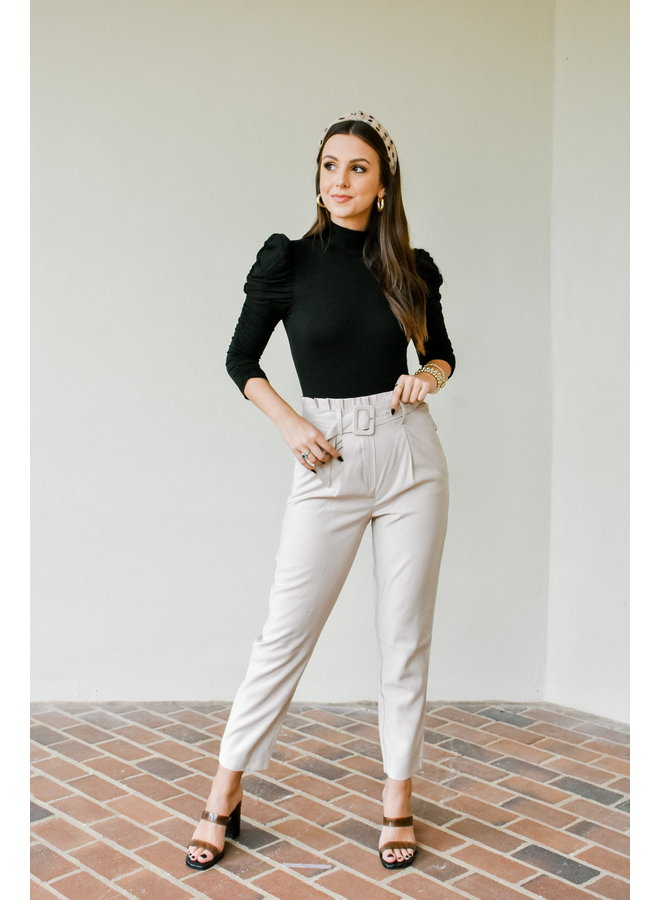 Business As Usual Belted Pants
