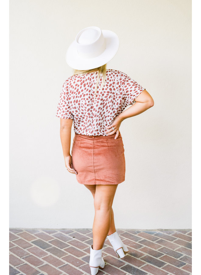Spotted Daily Tunic - Rust