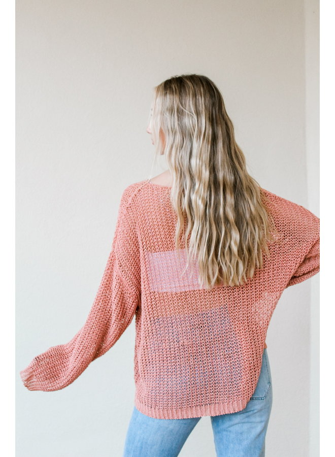 Rose Gold Holey Sweater