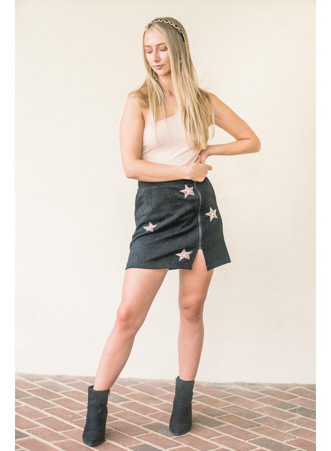 Star Light Suede Skirt