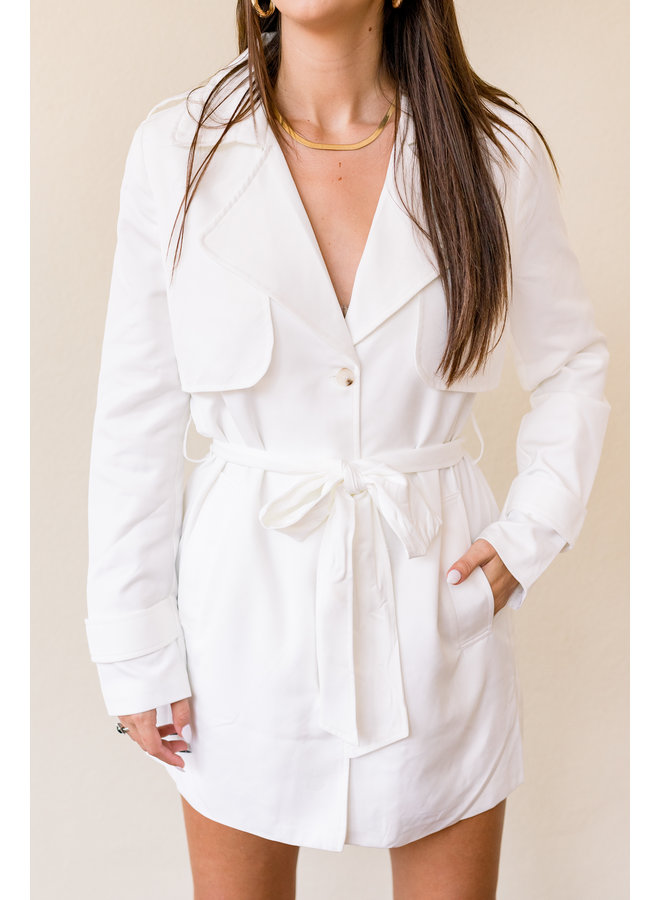 Wilkes You Marry Me White Coat Dress