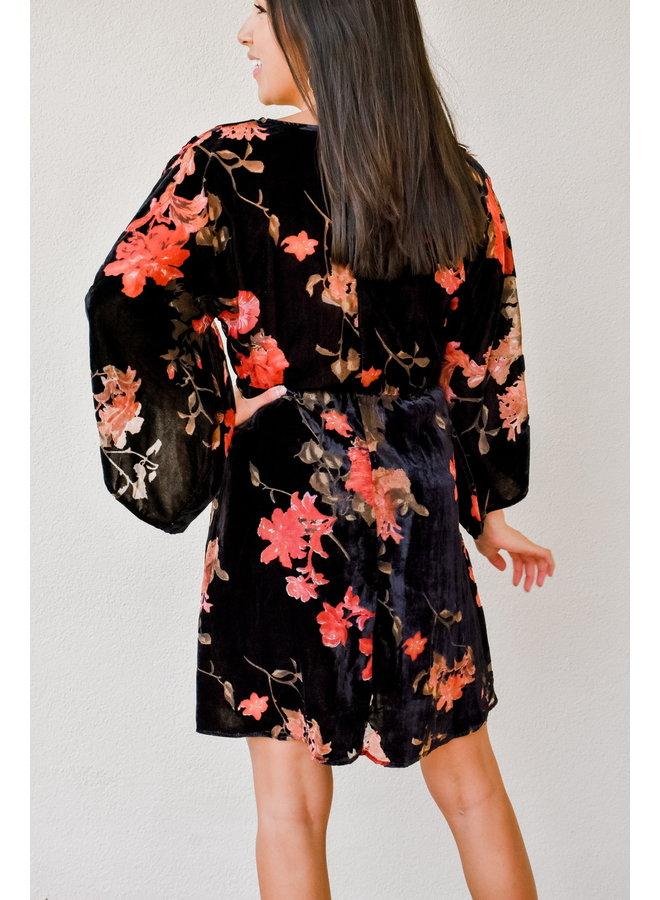 Give Thanks Velvet Dress