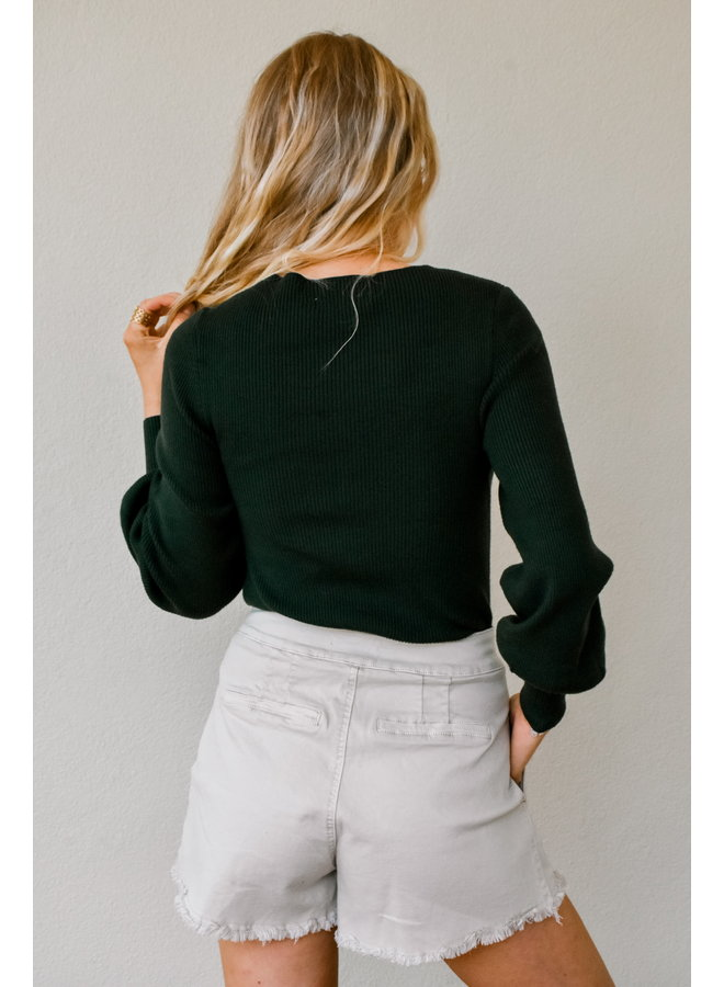 To The Forest Ribbed Sweater