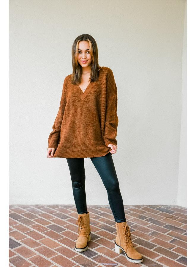 Dirty Pumpkin Oversized Sweater