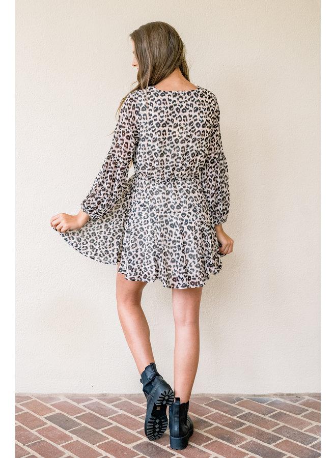Lovely Leopard Swing Dress