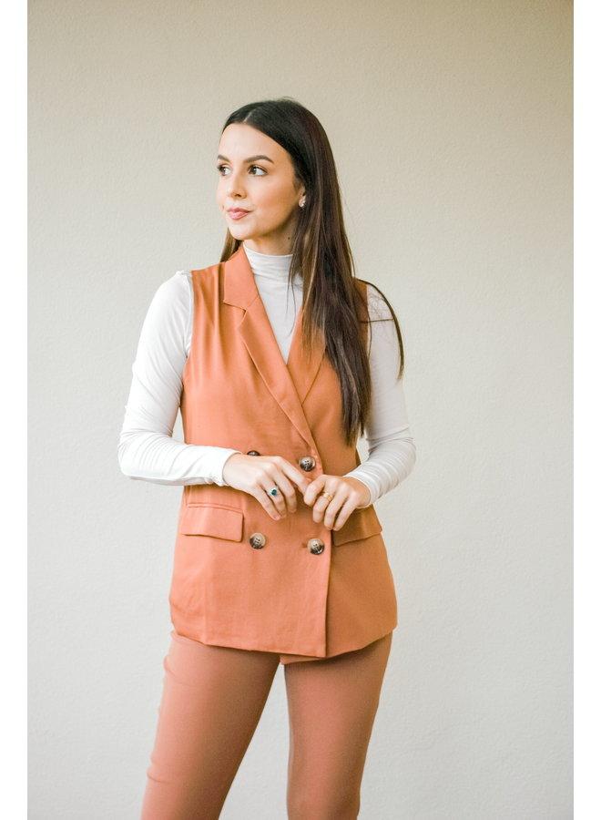 Restless Rust Blazer Vest