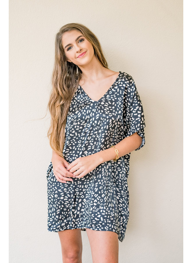 You've Been Spotted Tunic Dress