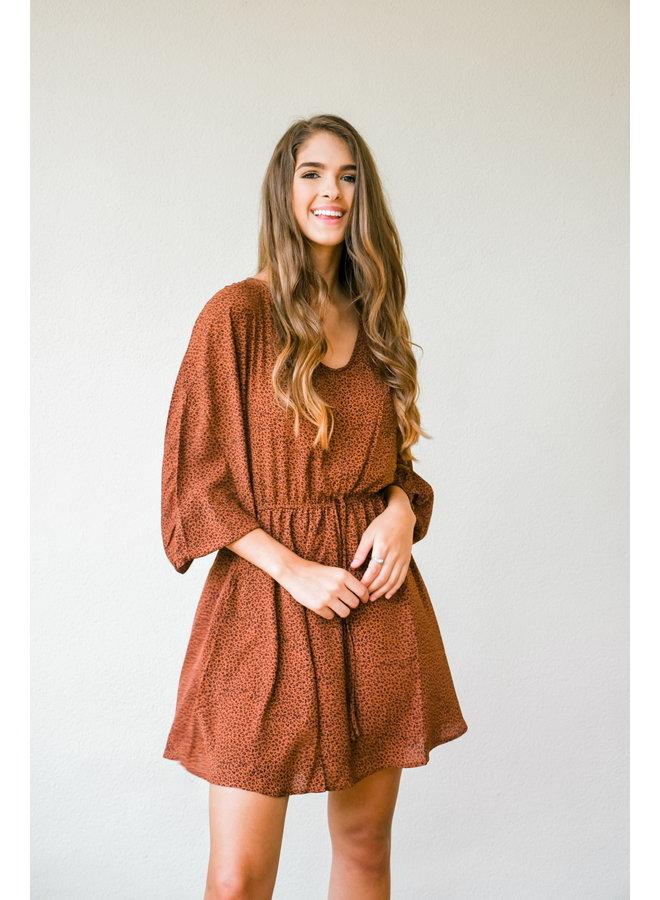 Copper Tones Swing Dress