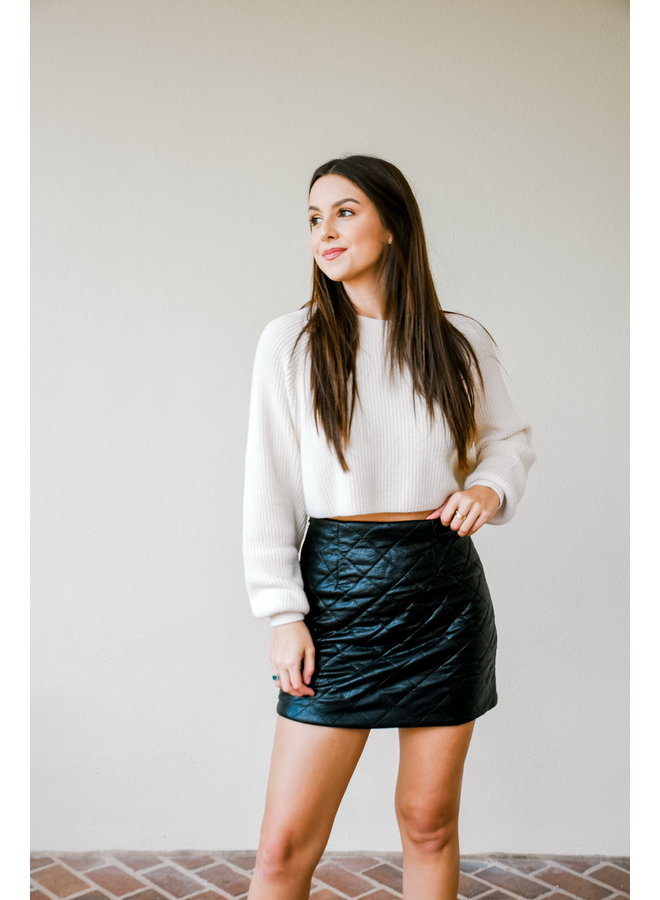 Don't Cross Me Leather Skirt
