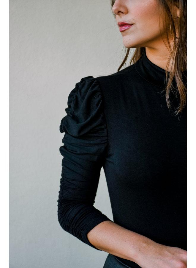 Got A Puff On You Bodysuit-Black