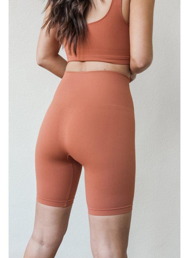 Seamless Biker Shorts - Terracota