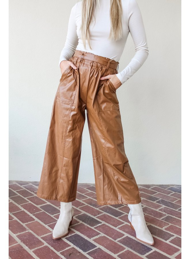 Fauxy Leather Crop Pants
