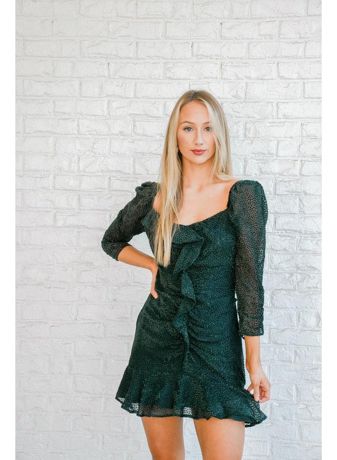 Romance Me Dress - Emerald
