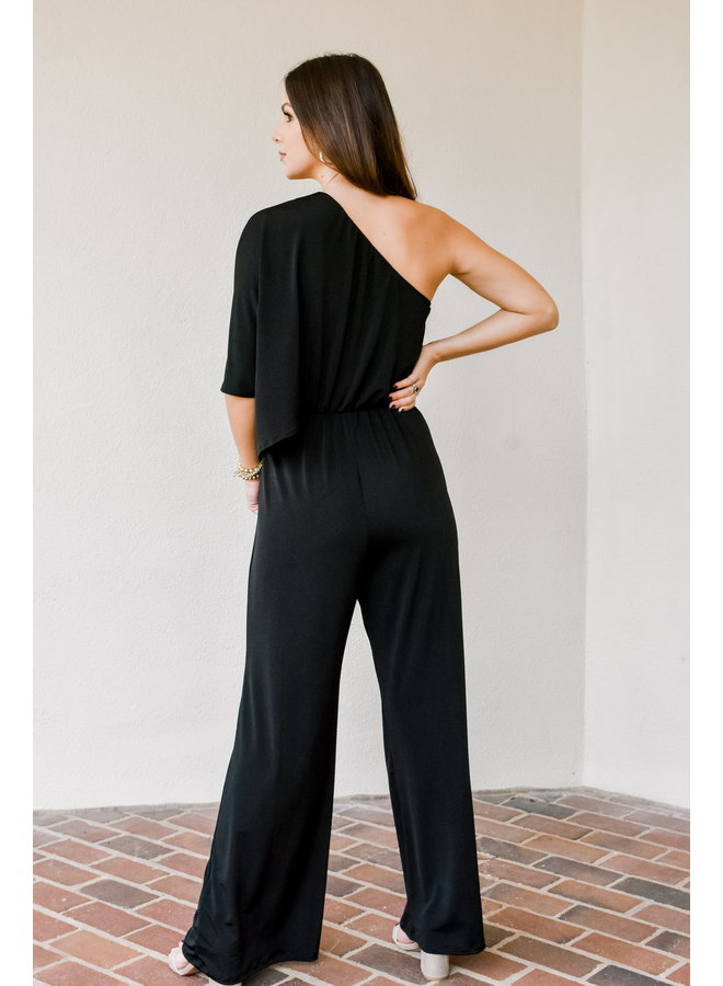 You're The One Shoulder Jumpsuit