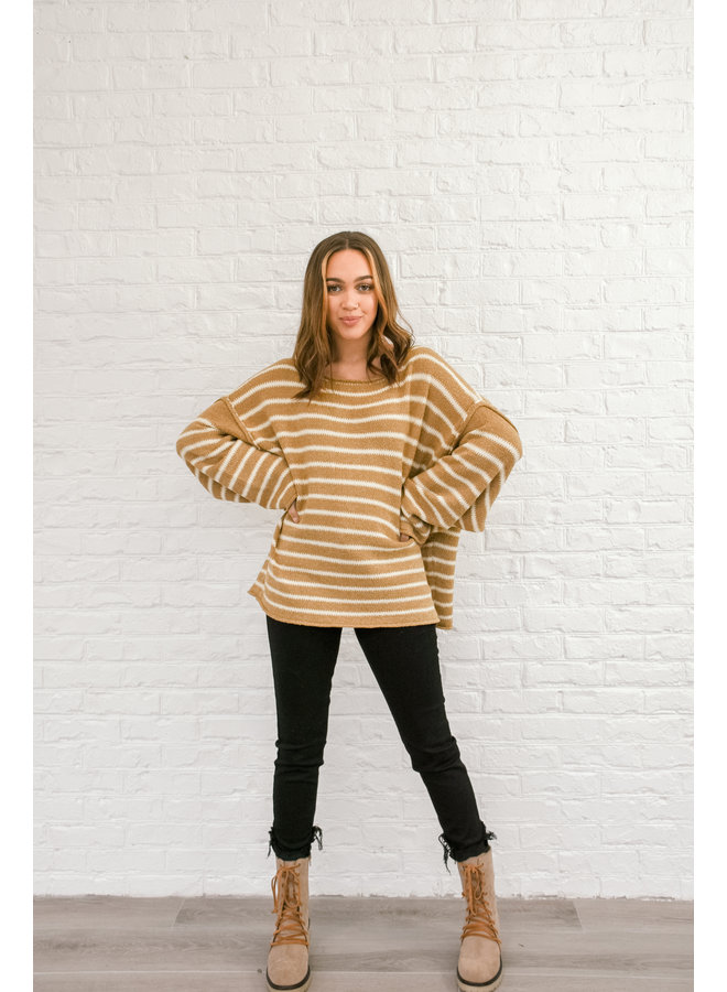 Always Striped Sweater - Gingerbread