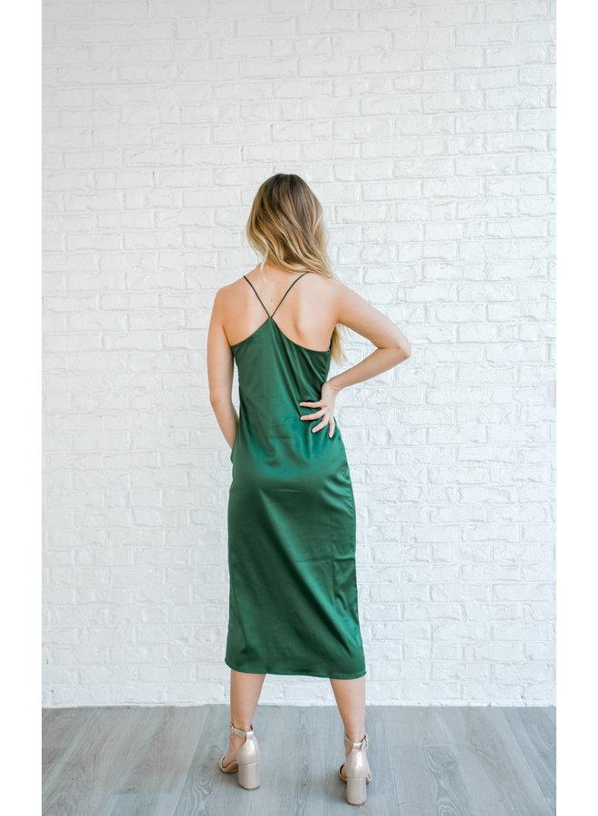 Emerald Silk Midi