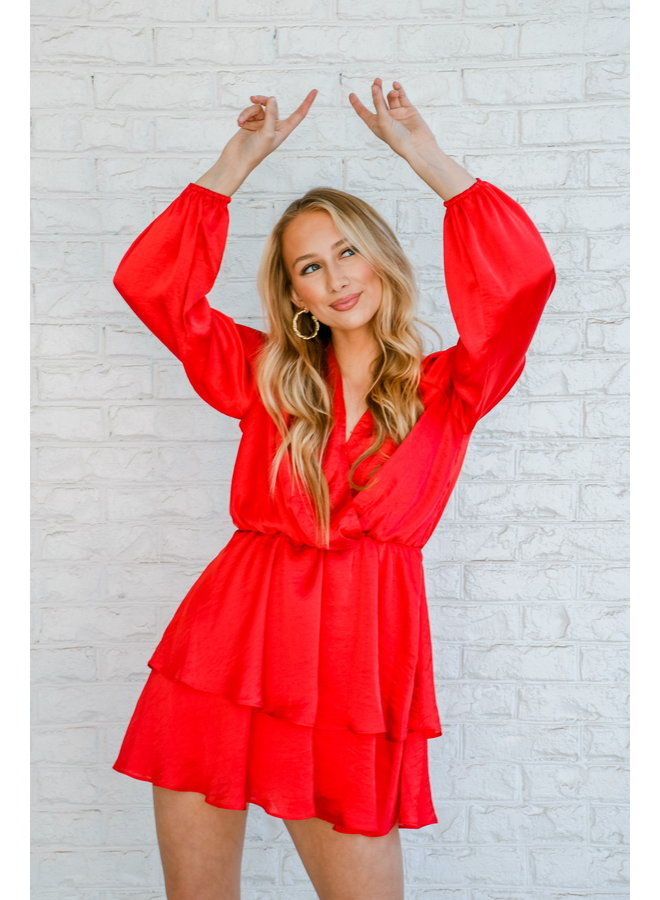 Merry Mimosa Dress - Red