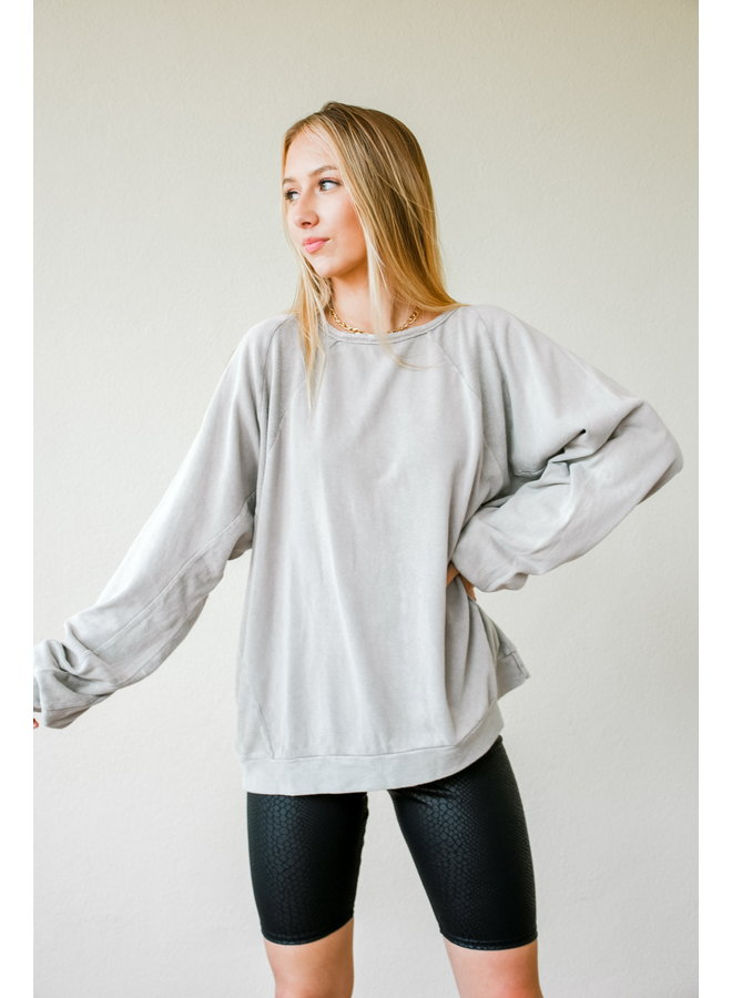 Ashy Slouch Pullover