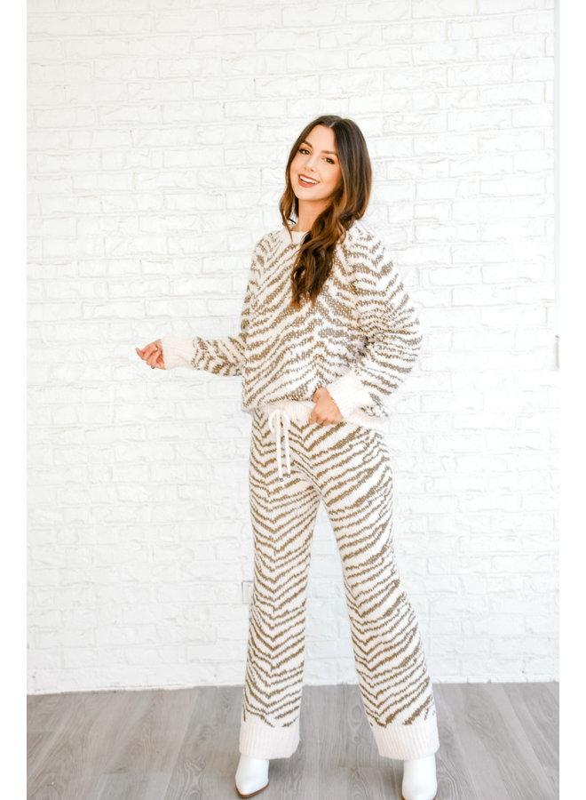Keep Me Cozy Zebra Pants