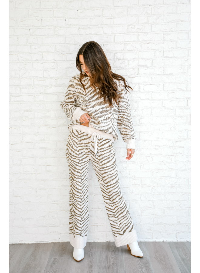Keep Me Cozy Zebra Pants