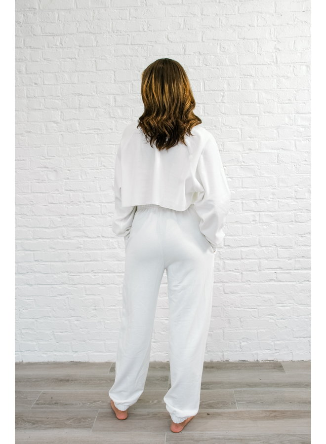 Your Classic White Joggers