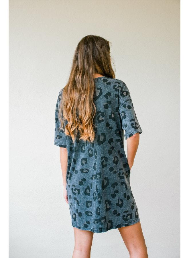 Ash Leopard Tee Dress