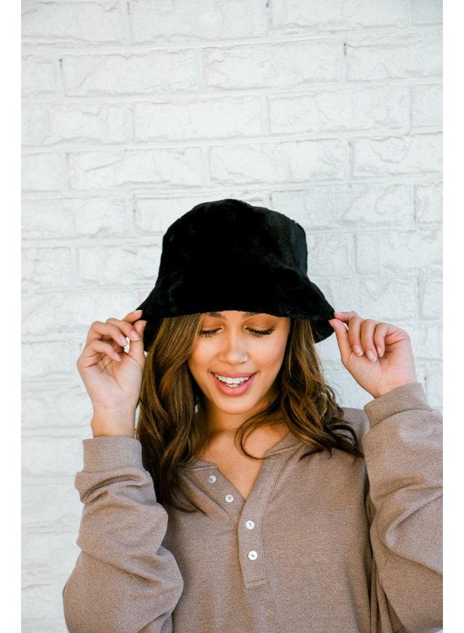 Snowed In Bucket Hat - Black