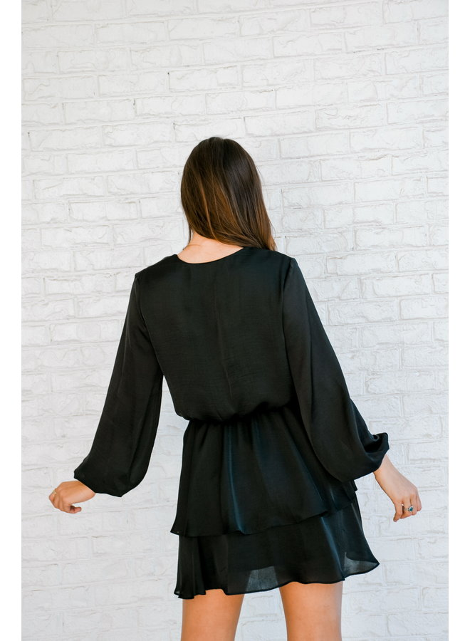 Merry Mimosa Dress- Black