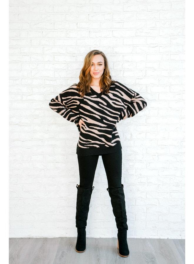 Totally Zebra Sweater