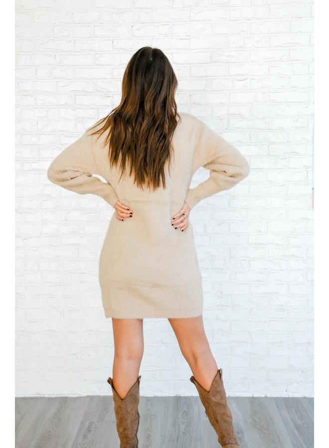 Fuzzed Up Sweater Dress