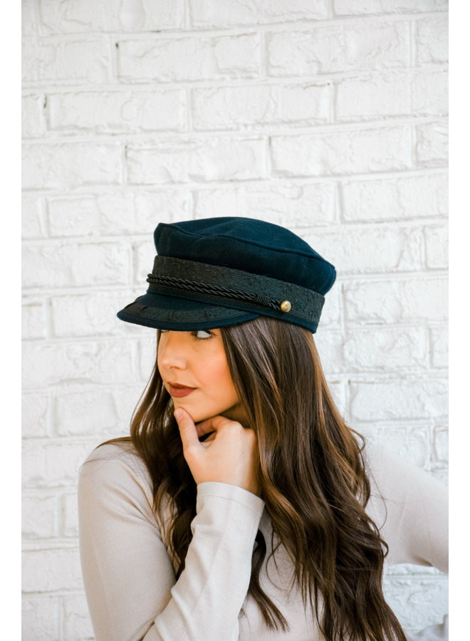 Meet Me At The Station Cabby Hat - Navy