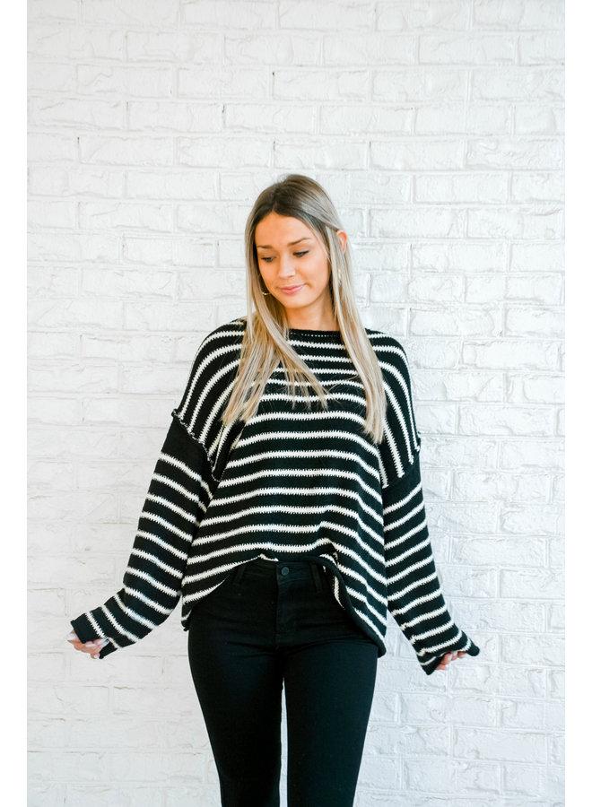 Always Striped Sweater - Midnight