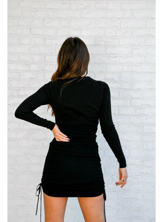 Bryant Ruched Dress - Black