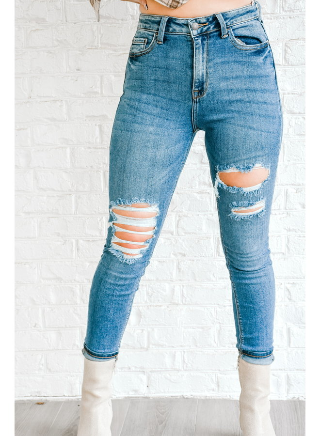 Down to Denim Ripped Skinnies