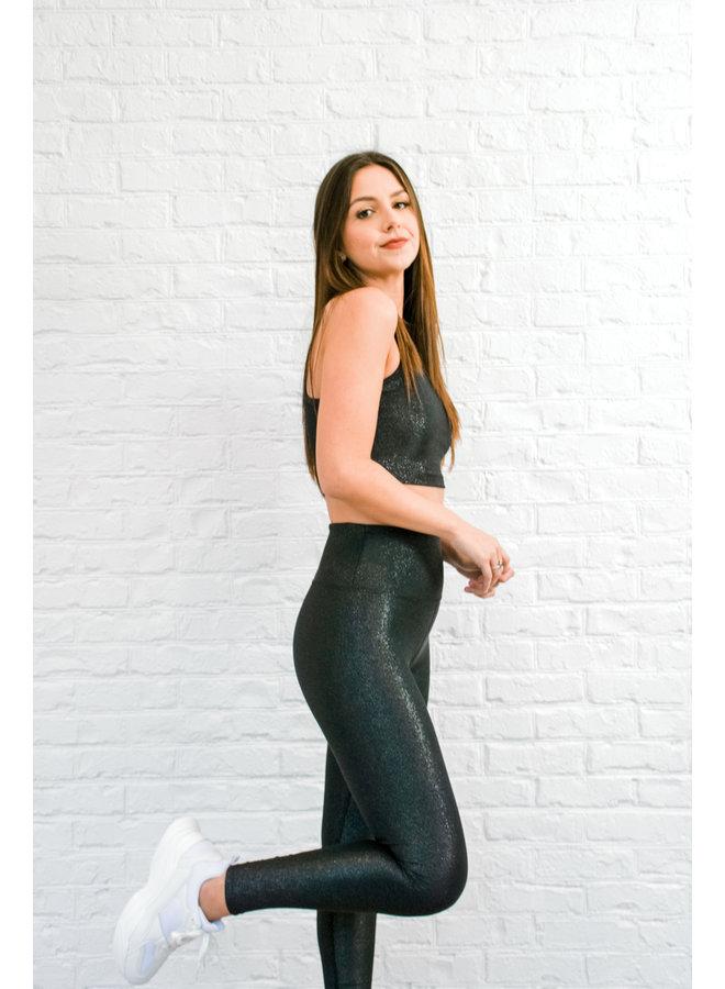 Ayla Legging - Black Sparkle