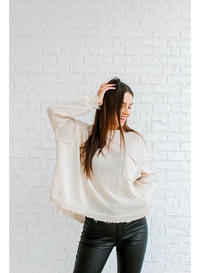 On Edge Distressed Sweater