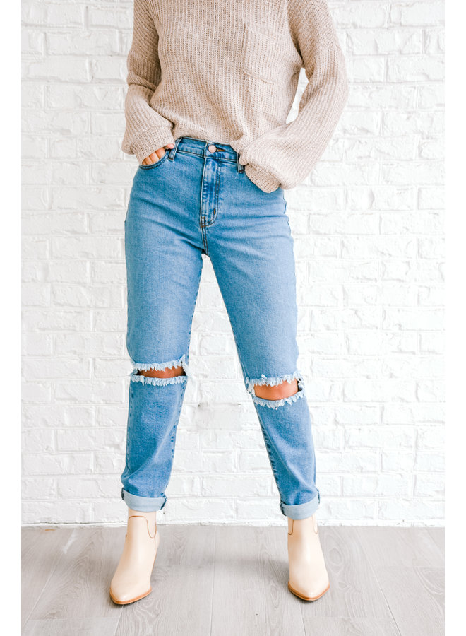 In Shreds High Waisted Denim