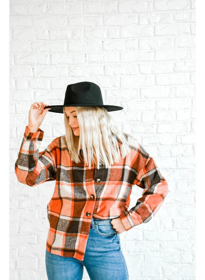 Cowboy Like Me Flannel - Cardinal