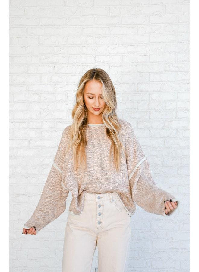 Ashy Rust Seamed Sweater