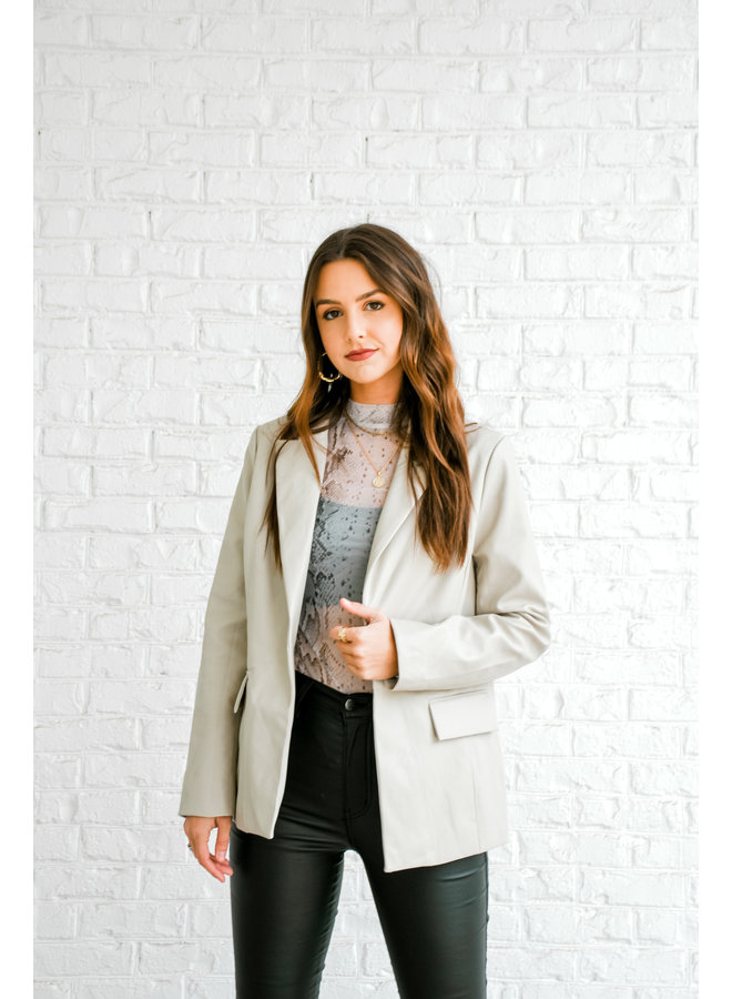 Nine to Five Leather Blazer