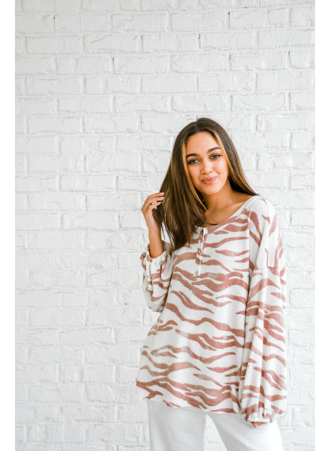 Wildin' Out Zebra Henley