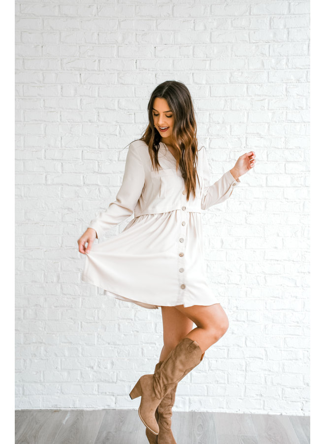 Forever Button Dress