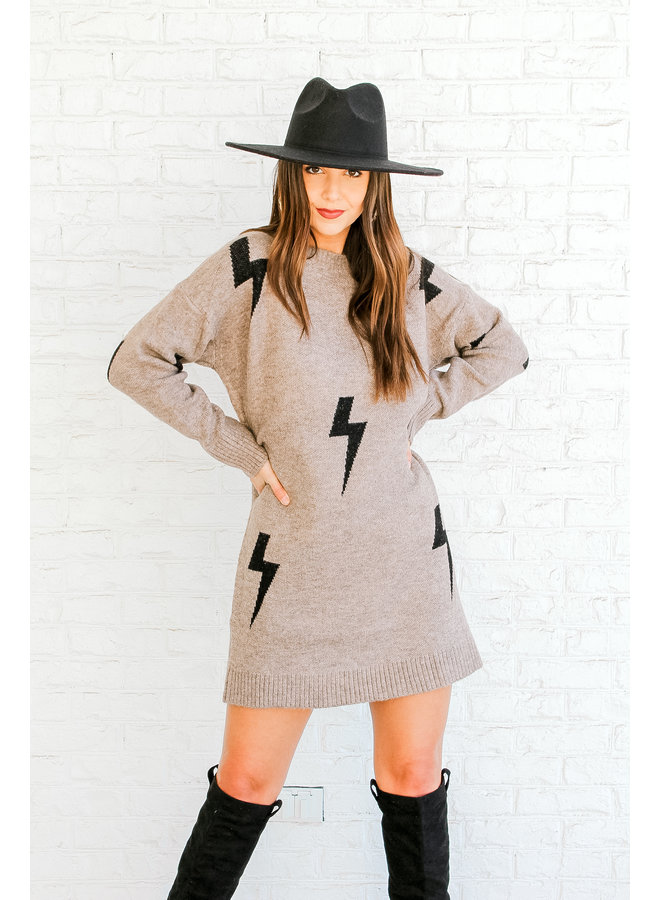 Struck by You Sweater Dress
