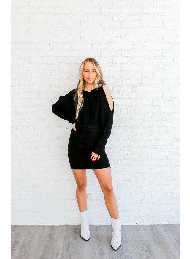 Showing Shoulder Sweater Dress