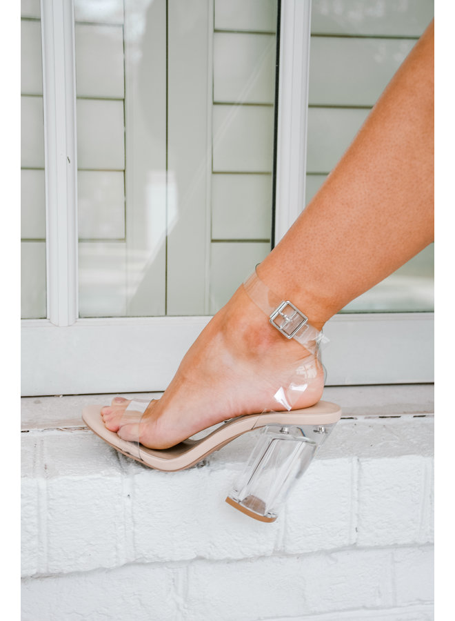 In the Clear Block Heels