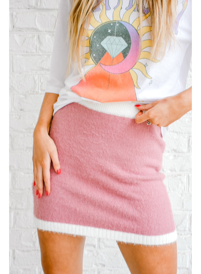 In My Feels Fuzzy Skirt