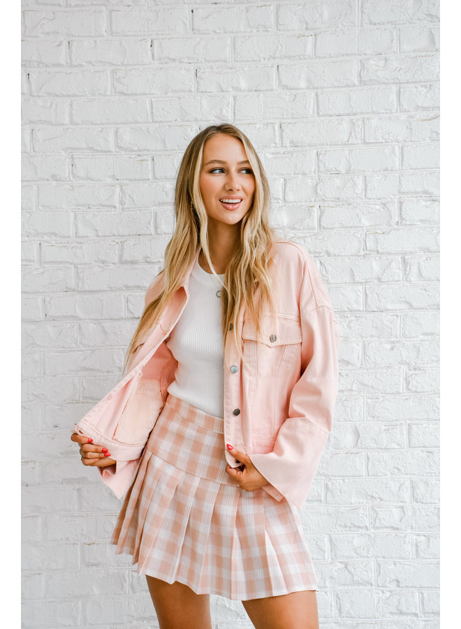 Pink Ladies Denim Jacket